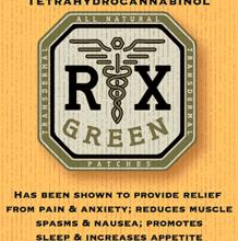RX Green THC Indica Patch