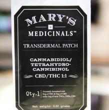 Mary's Medicinals THC:CBD Patch | 1:1 10mg Med