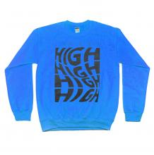 A Bit High Crewneck Sweatshirt | Blue Size XXL