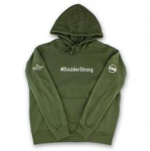 #BOULDERSTRONG Hoodie | Army Green Size Extra Large