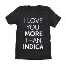 I Love Indica Tee Shirt | Black Size L