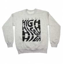 A Bit High Crewneck Sweatshirt | Grey Melange Size XL