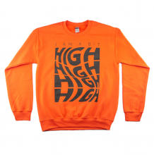 A Bit High Crewneck Sweatshirt | Orange Size XL