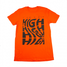 A Bit High Tee Shirt | Orange Size S