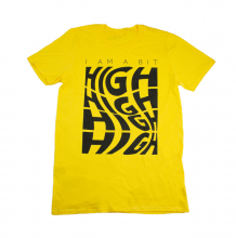 A Bit High Tee Shirt | Yellow Size M