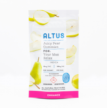Altus Fruit Puree Gummies | Juicy Pear Indica 100mg Rec