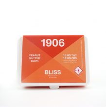 1906 Bliss Milk Chocolate Peanut Butter Cups | 1:1 20mg Rec