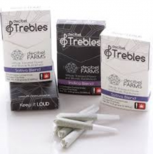Decibel Trebles, Black Box Indica Blend Infused Joint 5 Pack, 4.25g