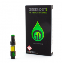 Green Dot Live Resin Cartridge | Cherry Fluff 500mg Rec