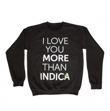 I Love Indica Crewneck | Black Size XL