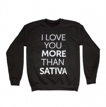 I Love Sativa Crewneck | Black Size S