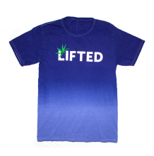 Lifted Tee | Hand Dyed Blue - Size L