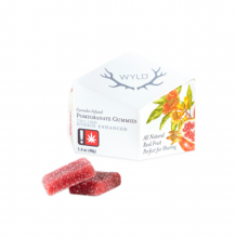 Wyld, 1:1 CBD Pomegranate Gummies, 50mg